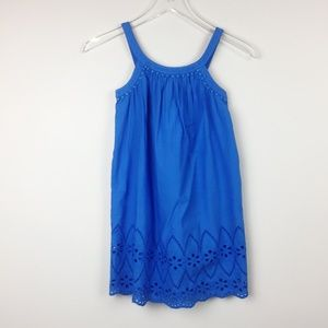 H&M | Girls Cobalt Blue Eyelet Embroidered Dress